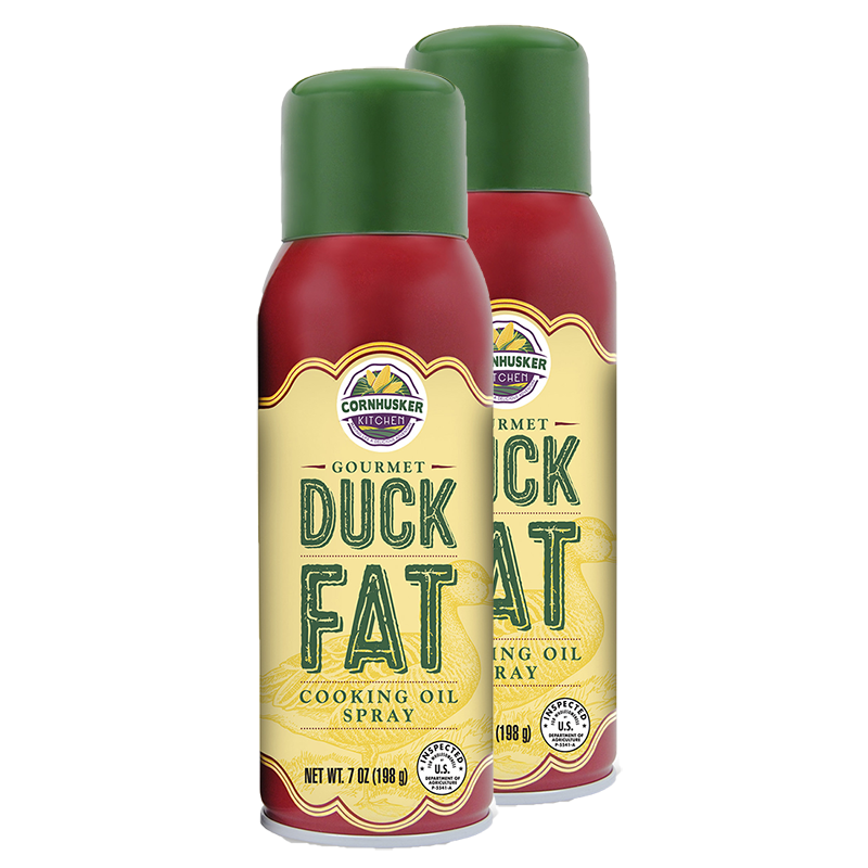 Two cans of Gourmet Duck Fat Spray